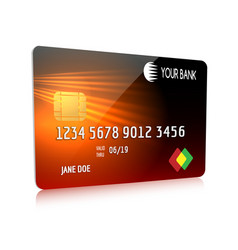 Debit or credit card isolated icon vector