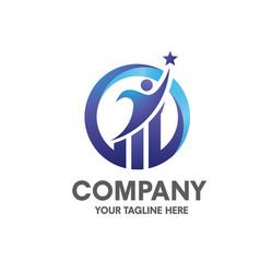 Success businessman marketing and finance logo set vector