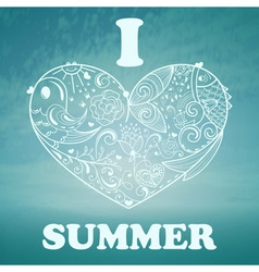 Summer Background with blue sky and sea vector image