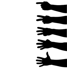 hands counting vector image vector image