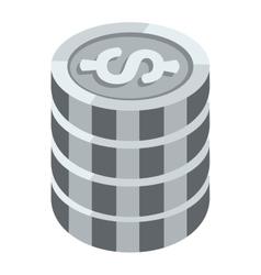 Money coins vector image vector image