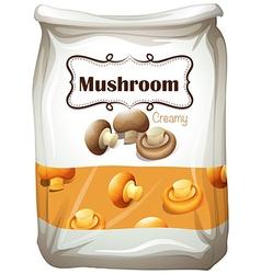 Mushroom in paper bag vector image vector image