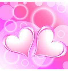 Pink Heart Shiny Holiday Background vector image vector image