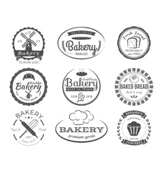 Set of bakery labels badges and design elements vector image
