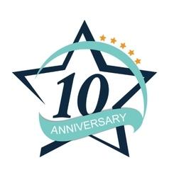Template Logo 10 Anniversary vector image vector image