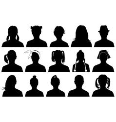 women portraits vector image vector image