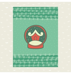 Christmas and new year vintage ornate frame with vector