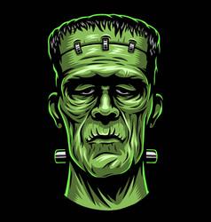 color of frankenstein head vector image