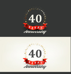 40 years happy anniversary banners vector