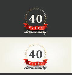 40 years happy anniversary banners vector image