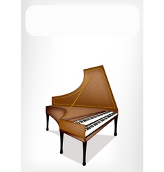 A Retro Harpsichord with A White Banner vector image