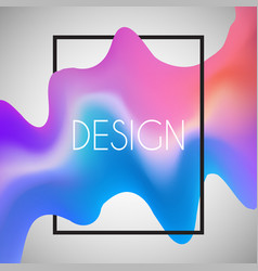 abstract background with 3d shape in white frame vector image