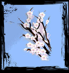 abstract blue and blossom vector image