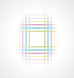 Abstract color lines vector