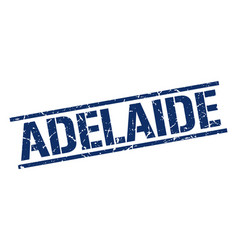 Adelaide blue square stamp vector