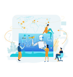 artificial intelligence in business analytics vector image