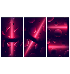 Atmospheric backgrounds with red lights and vector