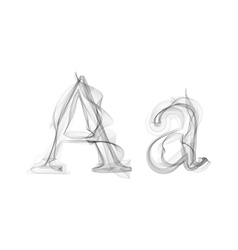 Black Smoke font Letter A vector