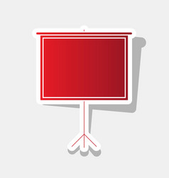 blank projection screen new year reddish vector image