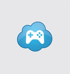Blue cloud joystick icon vector image