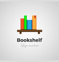 bookshelf logo concept vector image
