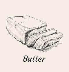 Butter hand drawn vector