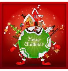 christmas around world vector image