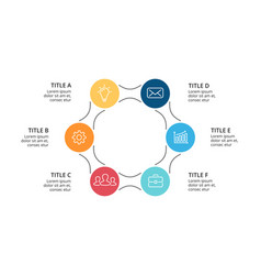 circle arrows infographic cycle diagram vector image