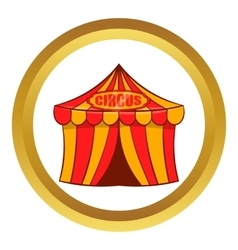 Circus tent icon cartoon style vector