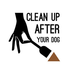 clean after dog banner vector image