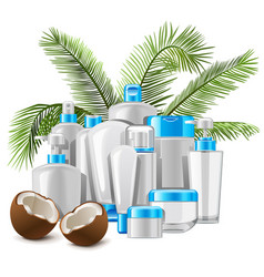 Coconut cosmetics vector