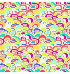 Colorful Abstract Waves Seamless Background vector image
