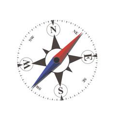 compass flat arrow old sea navigation travel vector image
