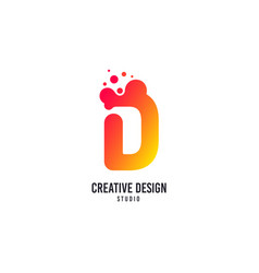creative design logo d letter icon with vector image