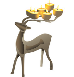 Deer shaped candelabra vector