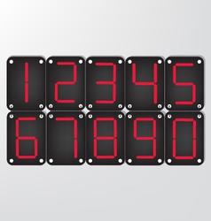 digital number vector image