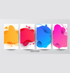 Dynamic liquid shapes set of phone payment vector