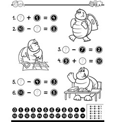 Educational worksheet coloring page vector