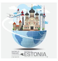 Estonia landmark global travel and journey vector