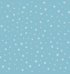 falling snow seamless pattern vector image