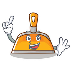 Finger dustpan character cartoon style vector