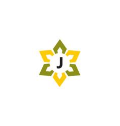 Flower infinity letter j vector