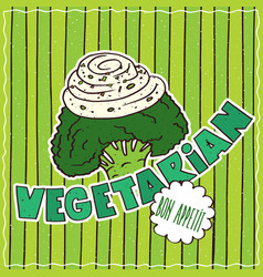 Food poster with vegetarian vector