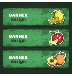 FruitsBanner vector image