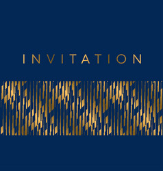 gold and blue stripes horizontal design element vector image