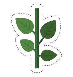 green plant icon vector image