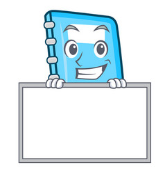 grinning with board education character cartoon vector image
