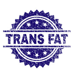Grunge textured trans fat stamp seal vector