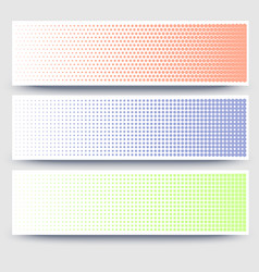 halftone abstract 3d banners collection on white vector image