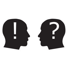 head silhouettes solution vector image